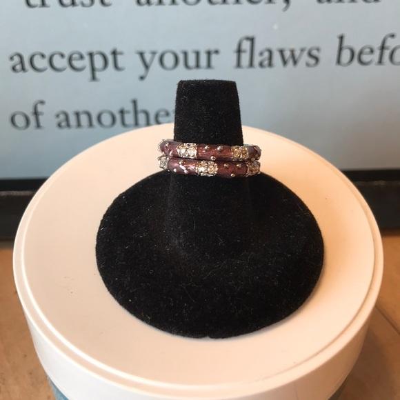 c0e17507d Joseph Esposito Jewelry | Purple Enameled Sterling Silver Stack ...